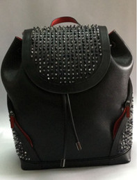High Quality Backpack Brands Australia - Fashion lovers backpack bags high quality famous red bottom luxury brand lovers chains bag fashion studded rivets women and men handbag