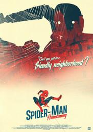 Spiderman Marvel Figure Australia - Spiderman Homecoming Marvel Movie wall decor Art Silk Print Poster 686868