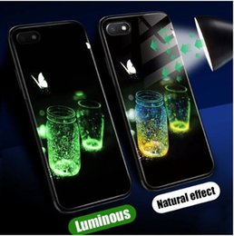 $enCountryForm.capitalKeyWord Australia - Luminous Glass Case For Xiaomi Redmi Note 5 5 Plus 6 Pro 6A 4X Pattern Phone Case For Xiaomi Mi A1 A2 Lite Silicone Cases Cover Very individ
