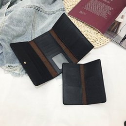 Multi Color Hand Bag Australia - Factory wholesale brand women hand bag multi-card printed leather wallet fashion contrast color long coin purse personality two-piece leathe