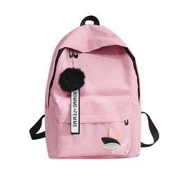 $enCountryForm.capitalKeyWord UK - 2019 New Design Backpack Tassel Letter Canvas Travel Backpack Female Ribbon Girl Women Backpack Mochilas Bagpack Shoulder Bag