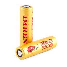 Großhandel Ladegerät-Energie Neue Ankunft IMR 18650 Batterie 3200mah 3300mah 3500mah Leoparddruck MAX50A durch Fedex Refly