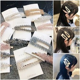 korean kids hair clip Australia - Korean fashion crystal designer hair clips women princess girls hair clips designer hair accessories for women BB clips kids barrettes A8016