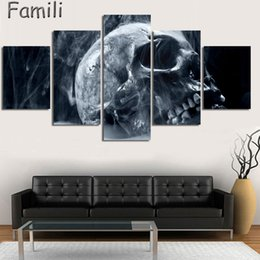 Digital Figures Australia - 5pcs large HD printed painting digital skull canvas painting art modern home decor wall art picture for living room