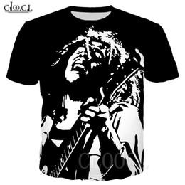 Wholesale t shirt bob marley online – design Reggae Hip Hop T shirts Bob Marley Printed D Short Sleeve Tshirt Men Women Casual Funny Summer Plus Size Fitness Sport Tee Tops
