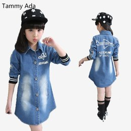 Leather jackets for kids girLs online shopping - Tammy Ada Size T Spring Girl Clothing Denim Jacket Casual Leather Fashion Kids Denim Coat Top For Girl Long Sleeved Trench
