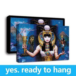$enCountryForm.capitalKeyWord Australia - Framed Wall Art HD Canvas Print Oil Painting Woman, The Egyptian Goddess Art Print on Canvas Home Decor - Ready To Hang