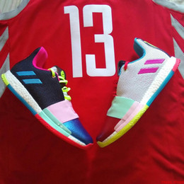 different shoes UK - 2019 james harden basketball shoes vol.3 vol 3 drew league different breed wanted waht the Mission 13 size 40-46
