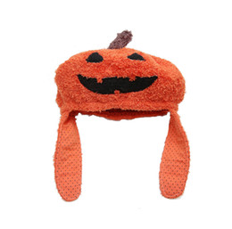 woman plush toy boy NZ - Men and women new plush Halloween cartoon pumpkin embroidery hat creative funny holiday gift knit toy hat jewelry