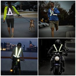 reflective vest led UK - High Elastic Traffic Night Work Security Running Cycling Safety Reflective Vest High Visibility Reflective Safety Vest Bike Lights