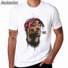 $enCountryForm.capitalKeyWord Australia - Asian size Men Women Print Tupac 2pac T-shirt Short sleeve O-Neck White Tshirt Hip Hop Swag harajuku Streetwear T shirt