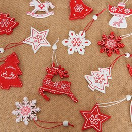 $enCountryForm.capitalKeyWord Australia - 12PCS Wood Christmas Pendants Hanging Drop Ornaments For Holiday Home Bar Shop Decor DIY Craft kerst decorat Enfeites Natalino