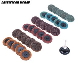 """$enCountryForm.capitalKeyWord NZ - Cheap Abrasive Tools 31Pcs Sanding Disc 2\"""" 50mm Quick Change Discs with Tray Holder for Metal Surface Prep Strip Grind Polish Finish"""