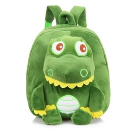 Chinese  Baby Dinosaur Backpack 5 Colors Kids Plush Stuffed Doll Soft Children Backpack Mochila Kindergarten School Bags manufacturers