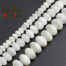 $enCountryForm.capitalKeyWord NZ - Cheap Natural White Mother Of Pearl Mop Shell Beads Loose Beads For Jewelry Making Bracelet Necklace 15 inches