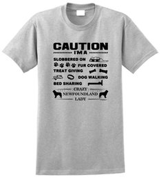 Wholesale newfoundland dog online – design T Shirt Quotes Tall Men O Neck Short Sleeve IM A Crazy Newfoundland Lady Dog Lover T Shirt