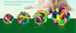 $enCountryForm.capitalKeyWord Australia - XU0318 2019 A Design Pets Rope Ball Toys Bite Ball Colorful Squeak Toys Dog Ball Rubber Toy For Dog Pet Accessories Animal Puppy Chew Toys