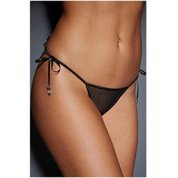 Hot string bikinis online shopping - Sexy Lace Bow Knots Underwear Panties Briefs Bikini Knickers Lingerie Underwear Hot Underpants Lingerie Low Waist G string Tong