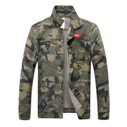 $enCountryForm.capitalKeyWord Australia - Spring Men Camouflage Denim Jacket Slim Fit Camo Jean Jackets For Man Trucker Jackets Outerwear coats Size S-4XL Turn Down T24
