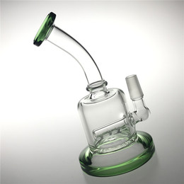 14mm Thick Bong Australia - New 6.5 Inch 14mm Bong Water Pipes with Thick Pyrex Male Heady Glass Water Bongs Recycler Beaker Bongs Mini Travel Bongs