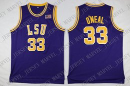 1bc179822a0 Cheap custom Vintage Shaquille O Neal LSU Tigers Basketball Jersey Purple  Stitched Stitched Customize any number name MEN WOMEN YOUTH X
