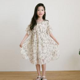 9cc0fbf56384 American Girl Holiday Dress Australia - 2019 Summer new Big kids chiffon dress  girls floral printed
