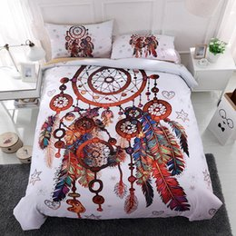 $enCountryForm.capitalKeyWord Australia - Dreamcatcher Series Bedding Set Queen Size Tribal Style 3D Duvet Cover King Simple Home Dec Double Single Bed Cover with Pillowcase