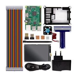 Raspberry Fan Australia - Freeshipping Raspberry Pi 3 Model B Starter Kit Pi 3+1 Acrylic Case +2.5A Power Supply + Fan + GPIO Adapter +Wifi etooth Adapter