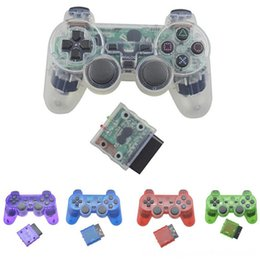 station wireless controllers UK - BEESCLOVER Sony PS24G Wireless Analog Controller Bluetooth Gamepad for Play Station 2 Joystick for Dualshock 2 d30 Game Controllers & Joysti