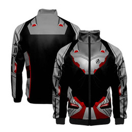 $enCountryForm.capitalKeyWord UK - Avengers 4 Endgame Quantum Realm Men Women Sweatshirt Jacket Advanced Costumes Superhero Anime Casual Capless Zipper Hoodies Top