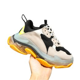 sneakers size 42 Australia - High Quality Women Fashion Luxury Designer shoes Sneakers Womens Running shoes Triple S Sneakers Fashion Wild Casual shoes Size 35-42