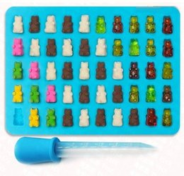 $enCountryForm.capitalKeyWord Australia - Food Grade Silicone DIY Candy Gummie Bear Making Gelatin Maker Fishing Lures Cupcake topper Chocolate Making Ice tray with dropper 100wn067
