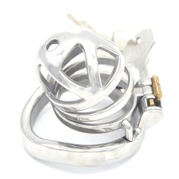 Metal Chastity Device NZ - Metal Hollow SM Flirting Cock Cage Stainless Steel Chastity Devices Chastity Lock Bird Cage for Men G242A