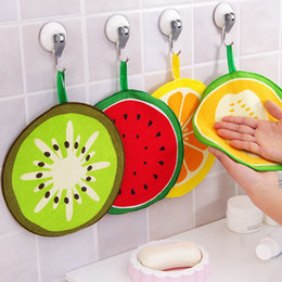 $enCountryForm.capitalKeyWord NZ - S Hand Towel Strong Water Absorption Cute Fruit Shaped Hanging Type Children's Handkerchief Hand Towel 1PC Kitchen Cartoon Home