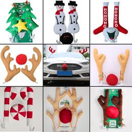 Outdoor Reindeer Australia - Lot CHRISTMAS Reindeer Antlers Car Costume Antlers & Nose Set Auto Outfits The Original Xmas Reindeer Nose Antler Car Costume Kit