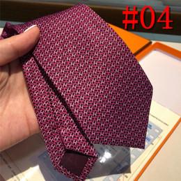 Luxury Men Tie Australia - with box Men Ties Silk Tie Mens Neck Ties Handmade Wedding Party letter Necktie 6 Style Designer Business Ties Luxury