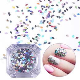 6 Boxen Laser Silber Nagel Glitter Pailletten Staub Gemischte Rhombus Form Tipps Diy Charme Polnischen Flakes Dekorationen Maniküre Schönheit & Gesundheit Nails Art & Werkzeuge