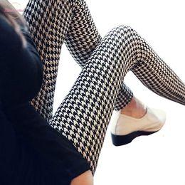Black leggings designs online shopping - Graffiti Leggings Floral Patterned Print Leggins For Women Leggings Houndstooth Casual Sale Design Vintage Elastic Leggins