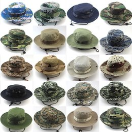silver wide brim hat Australia - Bucket Hat Hunting Fishing Outdoor Cap Wide Brim Military Unisex Sun camo