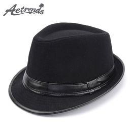 11867dd3c02  AETRENDS  2017 England Style Fedora Jazz Hat Men Vintage Wool Felt Winter  Hat Panama Cap Z-5312 D19011102