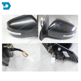 $enCountryForm.capitalKeyWord Australia - 2007-2017 lancer auto fold side mirror 7 wires with lamp for mitsubishi lancer rear mirror with turning signal lamp no painting
