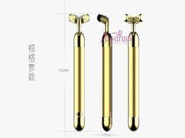 Facial Tightening Machines For Home NZ - Skin Lifting Tightening 24K gold Y-shape Vibration Face Massager Roller Facial Care Machine for Home Use CE