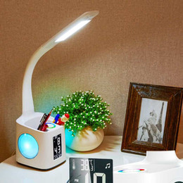 $enCountryForm.capitalKeyWord NZ - Office School Desk Set 2 in 1 Smart Adjustable Table Lamp Light With Pen Holders +Calendar Alarm Clock Temper Student Kid Gift