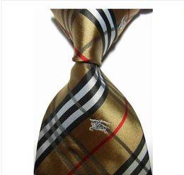 En gros 15 couleur cravate designer de luxe cravate hommes cravate classique marque de luxe cravate en soie