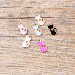 $enCountryForm.capitalKeyWord Australia - 120 pcs lot,8*16MM Long Tail Cat shape alloy small DIY pendants using for make earnings or paste mobile phone case free shipping wholesale