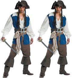 Pirates carnival costumes online shopping - Uniform men s pirate suit Caribbean Pirate costume Halloween men s game suit