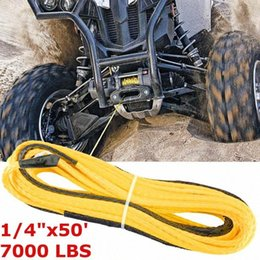 tow cable UK - 7000lbs Car Emergency Trailer Belt Vehicle Winch Cable Synthetic SUV ATV UTV and 4WD Car Recovery Replacement Towing Rope Outdoo Vsqe#