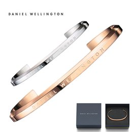 Wholesale Luxury New Fashion Stainless Steel L Classic Bracelet Daniel MM Rose Gold Silver Watch Men Women Accessories Cuff Gift Original Box