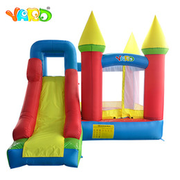 bouncy toys Australia - YARD In Stock Indoor Outdoor Toys Bounce House Inflatables Trampoline Baby Jumpers Bouncy Castle With Slide