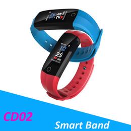 Portuguese Bracelets Australia - CD02 Fitness Bracelet Color Sport Smart Band Ip67 Waterproof Activity Tracker Heart Rate Monitor Pedometer pk fitbit mi3 m2 m3 ID115